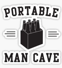 6 Pack - Portable Man Cave Sticker
