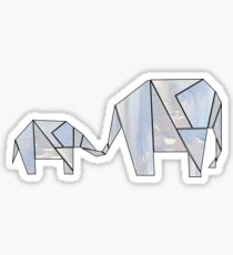 Geometric Elephants 3 Sticker