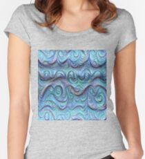 Frozen sea liquid lines and waves #DeepDream Fitted Scoop T-Shirt