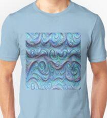 Frozen sea liquid lines and waves #DeepDream Slim Fit T-Shirt