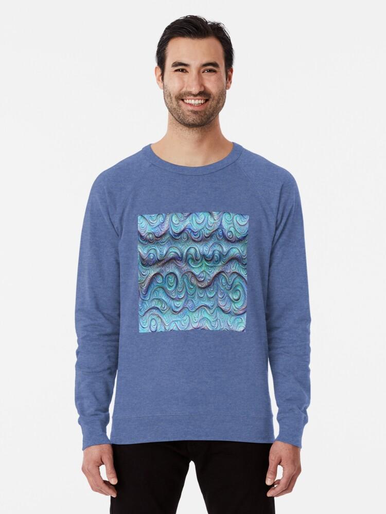 Alternate view of Frozen sea liquid lines and waves #DeepDream Lightweight Sweatshirt