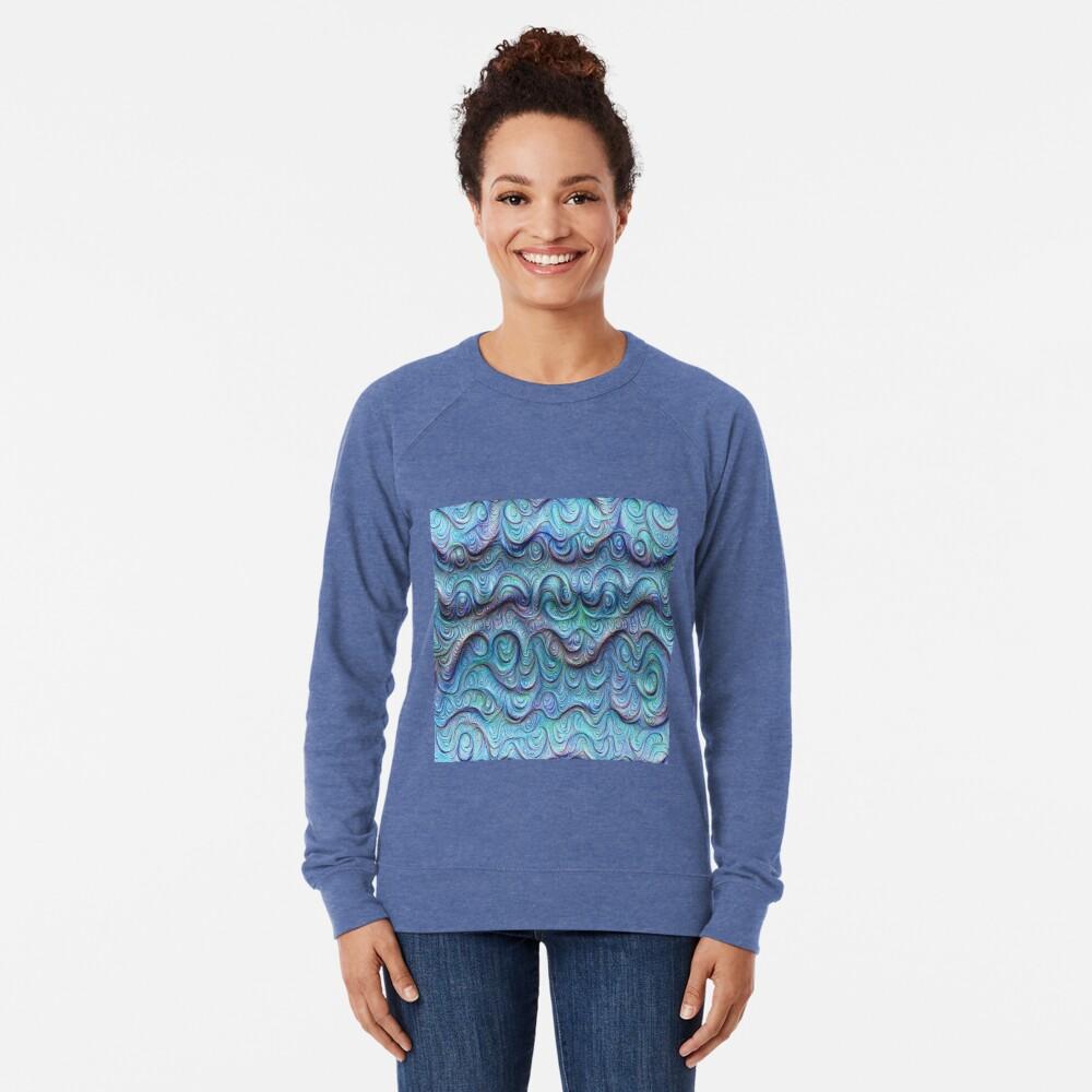 Frozen sea liquid lines and waves #DeepDream Lightweight Sweatshirt