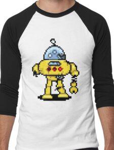 RoboPix Men's Baseball ¾ T-Shirt