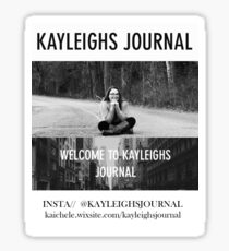 Kayleighsjournal update Sticker