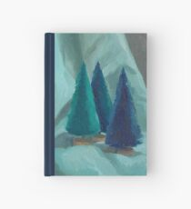 Green Bristle Trees Hardcover Journal