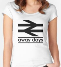 Away Day Culture Women's Fitted Scoop T-Shirt