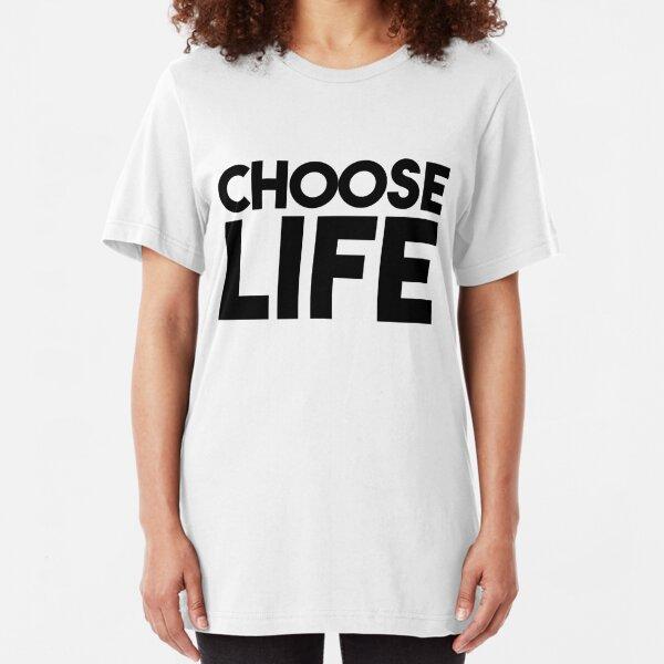 George Michael Choose Life damen lady T-shirt Shirt Rock Tee V-Ausschnitt
