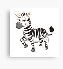 Cute cartoon zebra Canvas Print