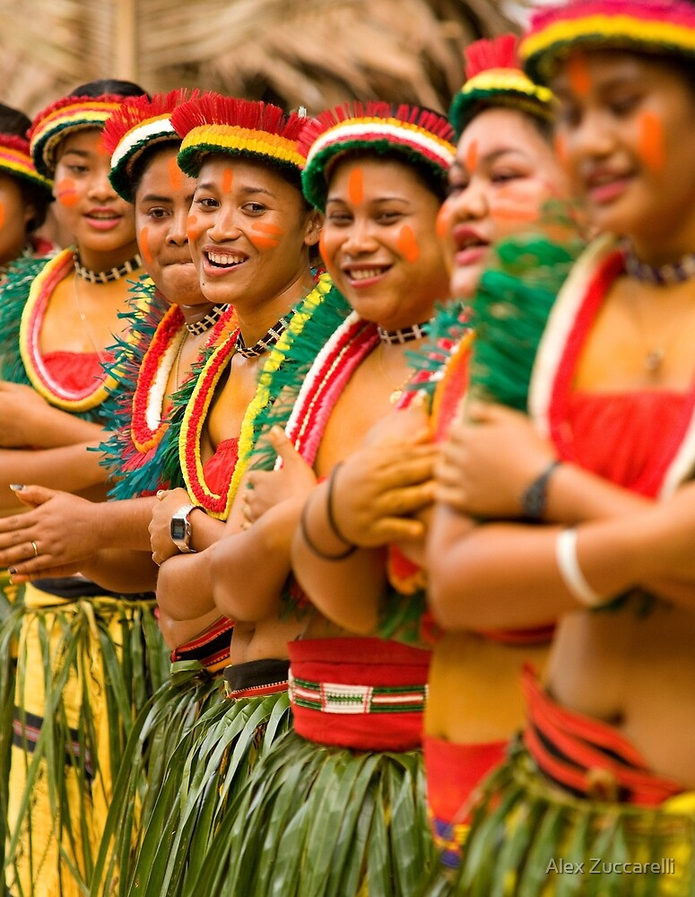 Yapese Dancers - Pohnpei, Micronesia by Alex Zuccarelli