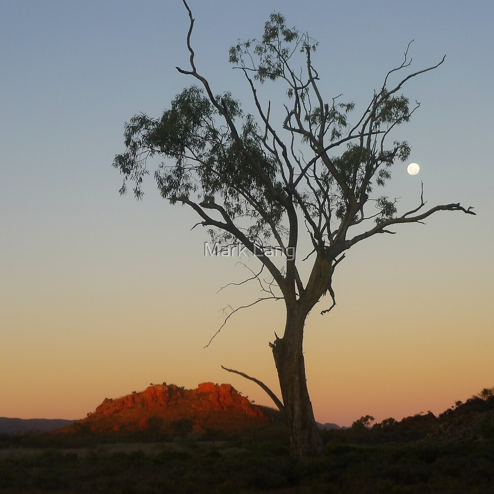 Outback Moonrise by Mark Lang