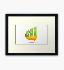 chart-grow-with-arrow Framed Print