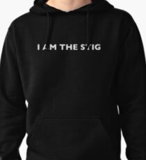 I AM THE STIG - English White Writing Pullover Hoodie
