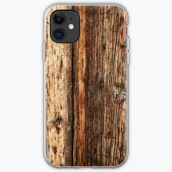 Wood texture iPhone Soft Case