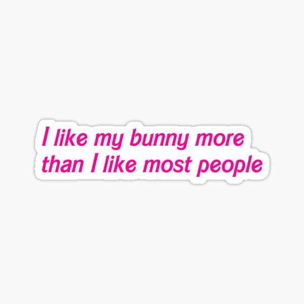I like my bunny more Sticker