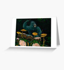 Gorilla Jungle Drums Greeting Card