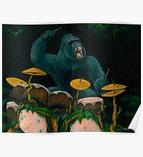 Gorilla-Dschungel-Trommeln Poster