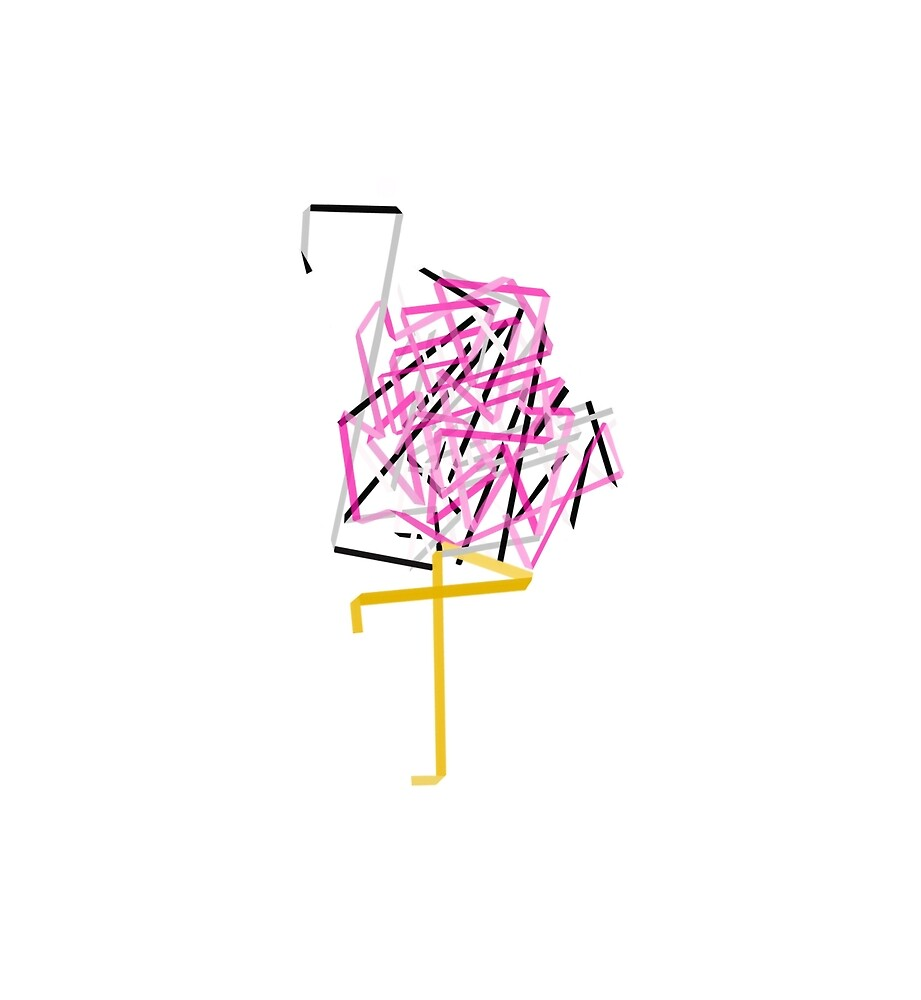Paper Flamingo by fuegostein