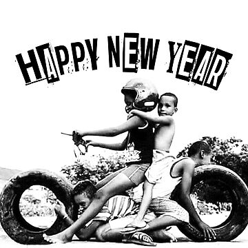 happy new yaer-motorcycle by nyuyear