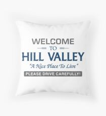Welcome To Hill Valley Throw Pillow