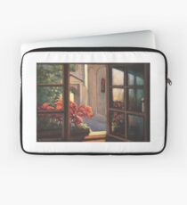 Window with flowers Laptop Sleeve
