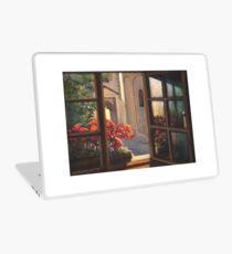 Window with flowers Laptop Skin