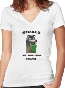 Gerald, my spiritual animal Women's Fitted V-Neck T-Shirt