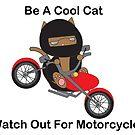 Motorcycle Biker Cat by ValeriesGallery