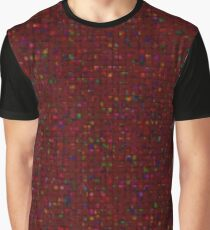 Antique Texture Garnet Red Graphic T-Shirt
