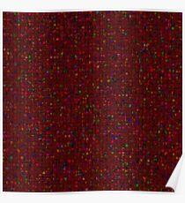 Antique Texture Garnet Red Poster