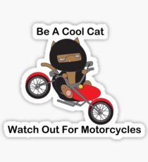 Watch For Motorcycles Stickers Redbubble - Motorcycles stickers
