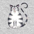 Kazart Fat Cat Tee by Kaz Sagovac