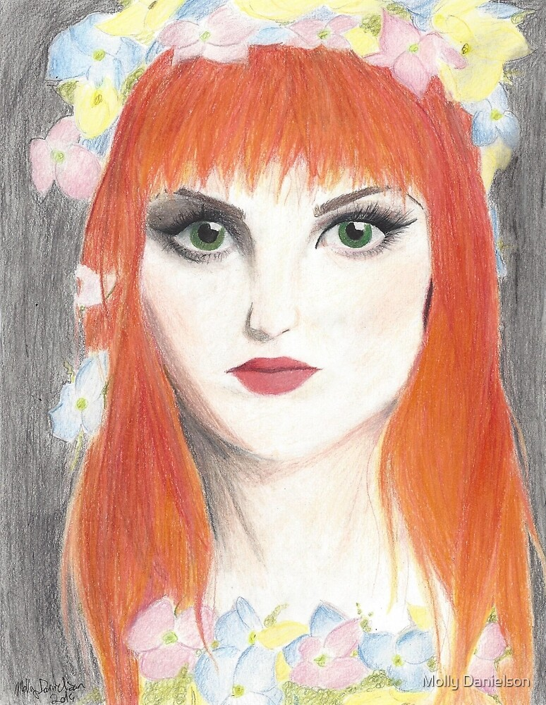 Hayley Williams Flower Crown by Molly Danielson