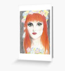 Hayley Williams Flower Crown Greeting Card
