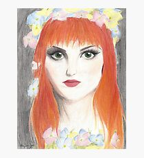 Hayley Williams Flower Crown Photographic Print