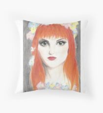 Hayley Williams Flower Crown Throw Pillow