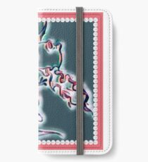 Draco art dragon in pearl and pink iPhone Wallet/Case/Skin