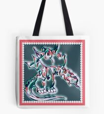 Draco art dragon in pearl and pink Tote Bag