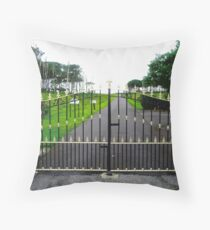 The Gates of Classiebawn Castle, Mullaghmore, Sligo, Donegal, Ireland Throw Pillow