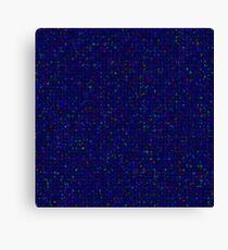 Antique Texture Sapphire Blue Canvas Print