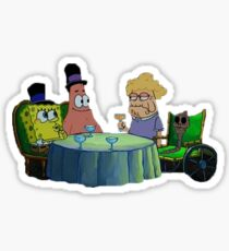 Spongebob has dinner with Chocolate Lady Sticker