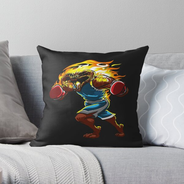A Balrog cosplays as Balrog Throw Pillow