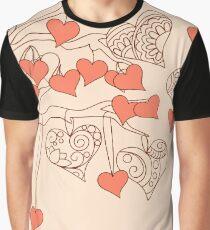 valentine hearts Graphic T-Shirt