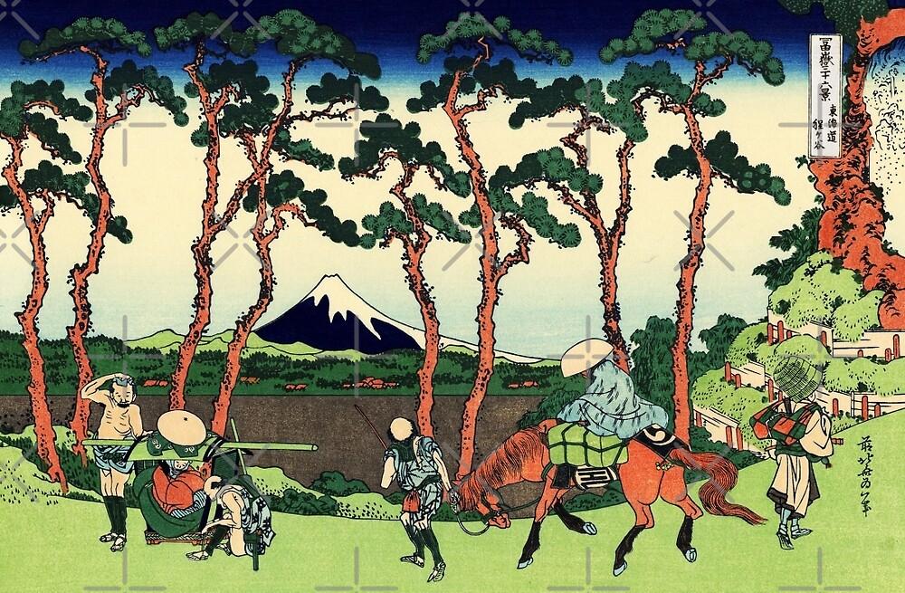 Hodogaya on Tokaido  by diane  addis