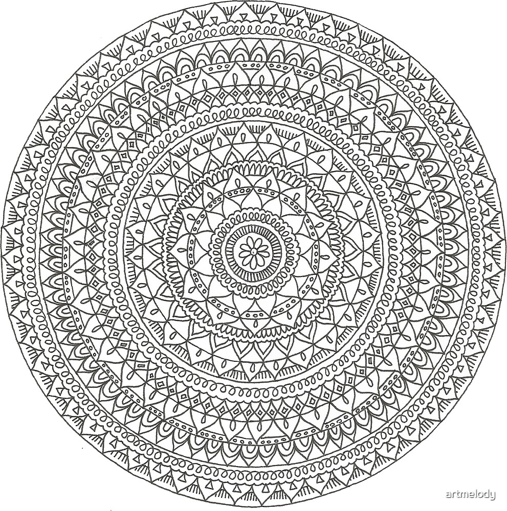 Ice Flower Mandala by artmelody