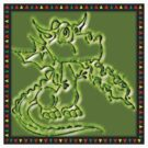 Festive Draco the dragon in green by Keywebco