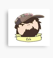 JonTron: The Ech Flower Crown Canvas Print