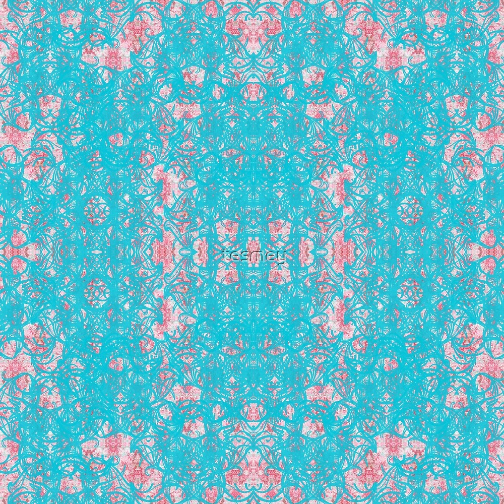 pink blue by tesmey
