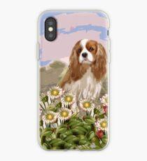 Vinilo o funda para iPhone Cavalier en el jardín