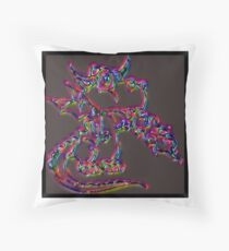 Psychedelic Draco the Dragon Throw Pillow