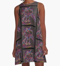 Psychedelic Draco the Dragon A-Line Dress